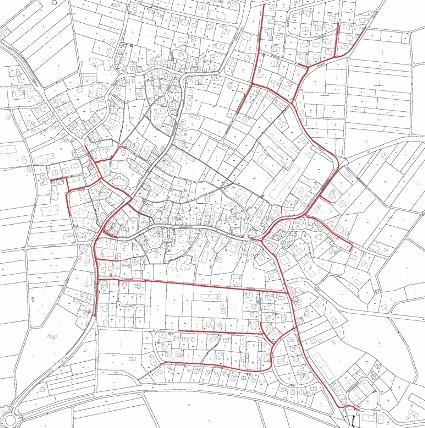 Der aktuelle Planentwurf für das Nahwärmenetz in Inneringen