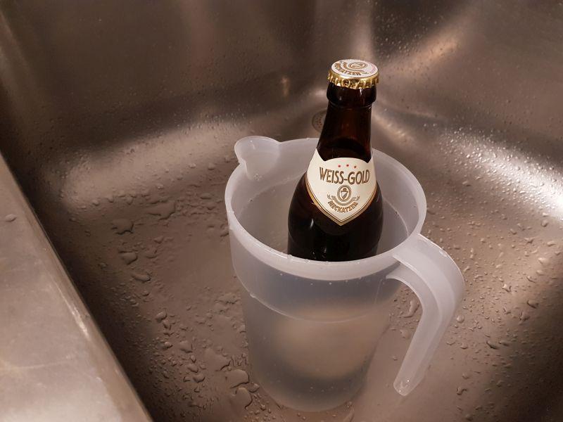 Gestauchtes Bier